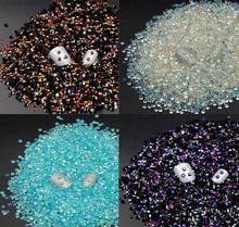 3MM 100pcs nail Rhinestones sticker ab color round  Candy colors diy jewelry  accessories nail materials flat diamond 100