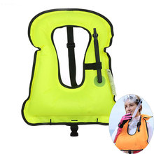 Inflatable Life Vest Jacket Life-Saving Float Ring Snorkeling Gear Dive Equipment Water Sports Swimming Drifting Surfing Vest(China)