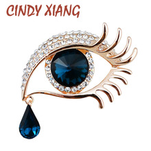 CINDY XIANG Crystal Eye With Tears Brooches for Women Wedding Brooch Pin Winter Coat Accessories Fashion Jewelry High Quality(China)
