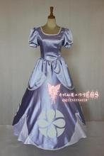 2016 Adult Clothing dress Sofia the First Cosplay Dress Edition Deluxe Princess Cosplay costume