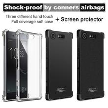 Buy IMAK Corners Airbag Shock-Proof Case Sony Xperia XZ1 Compact Soft TPU Case Cover Sony XZ1 Compact Full Cover Matte Case for $4.99 in AliExpress store