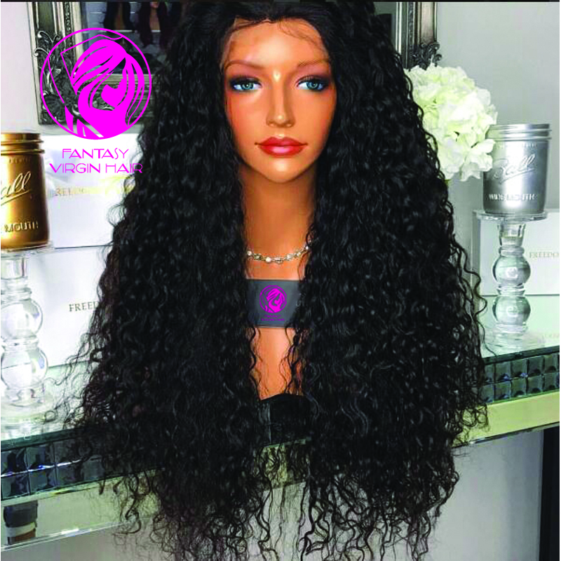 Good density full lace wig / lace front  wigs 130% density water wave brazilian virgin hair wig black women baby hair full lace<br><br>Aliexpress