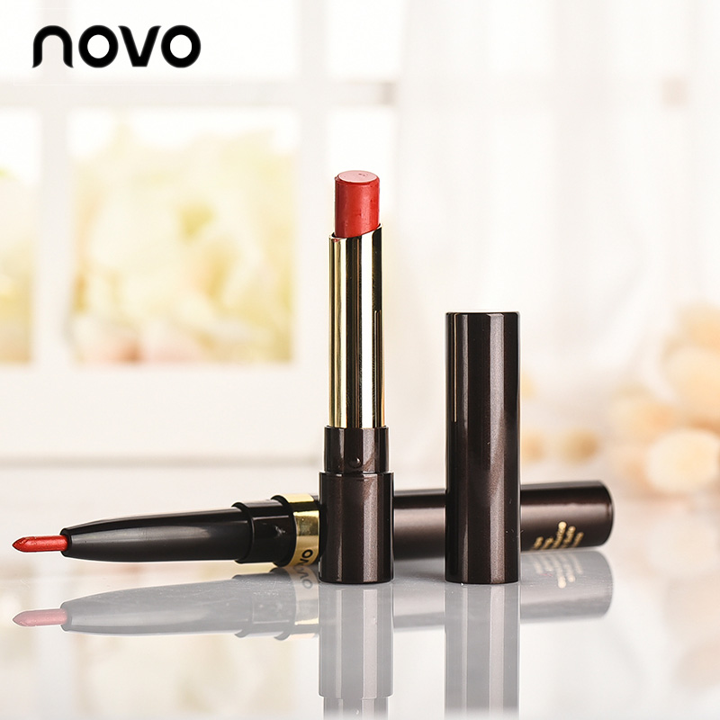 2018 New Korean Lip set Moisturizer Lipstick Mae Lipstick Nude 19Color Lip Liner Waterproof Contour Line Long Lasting MakeupZ6