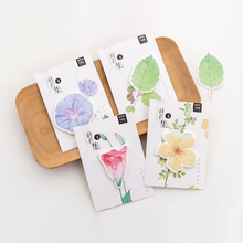 4 Pcs/lot Cute Various Flower Memo Pad Sticky Notes Creative Bookmark School Office Supply Note Paper Scrapbooking Sticker(China)