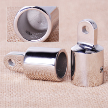 CITALL 2PCS Stainless Steel 7/8'' Pipe Eye End Cap Bimini Top Fitting Hardware for Marine Boat Yacht(China)