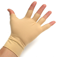 New 1 Pair Washable Nylon Spandex Anti Inflammatory Hand Compression Gloves Arthritis Relief Fitness Massage Body Gloves(China)