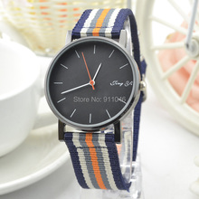 100pcs/lot HOT sale Analog new fashion Casual Fabric Sports Watch for Winter Black Dial quartz Watch Factory Price Wholesale(China)
