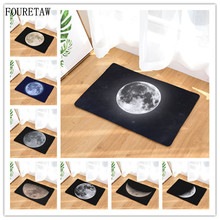 1 Piece FOURETAW Creative Universe Satellite Moon Photo Living Room Bedroom Table Rug Anit-slip Home Rectangle Floor Carpet