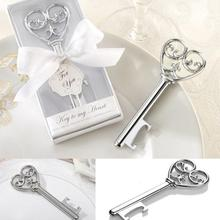 "300PCS ""Key to my heart"" Wine Bottle Opener Giveaway Gift Home Party Practical Creative Favor Wedding Favors and Gifts For Guest(China)"
