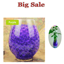 100 pcs Purple multi colored Water Plant Flower Jelly Crystal Soil Mud Water Pearls Vase Soil Gel Beads Balls Bead Decoration