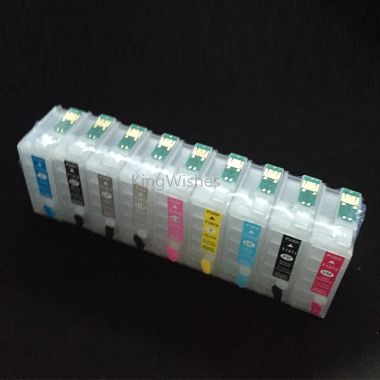 9PCS/Set IC64 Empty Refillable Ink Cartridge With Permanent Chip For Epson Stylus Photo PX-5V Printer<br><br>Aliexpress
