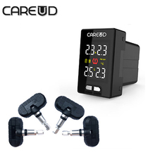 Car Wireless TPMS Tire Pressure Monitoring System 4 Internal Sensors Replaceable battery Careud U912 PSI/BAR