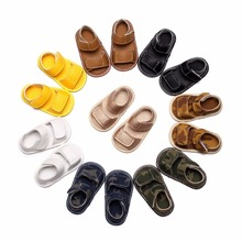 ROMIRUS Fashion Baby Boys Girls Solid Summer Beach Crib Bebe Flip Flop First Walker New Born Kids Child Infant Toddler Shoes(China)