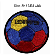 Soccer Ball Liechtenstein embroidery patch 50.8 MM wide /kids patch/sports/foot ball patch(China)