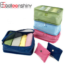 BalleenShiny 1pcs Travel Storage Bag Clothes Organizer Pouch Portable Supplies Stuff Closet Divider Container Organiser