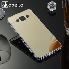 AKABEILA Plating Mirror TPU Mobile Phone Cases For Samsung Galaxy A5 2014 A500H A500 A5000 A500F A5009 A500M Cover Bag Silicone(China)