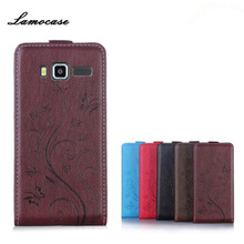 Lamocase Case Lenovo A916 5.5 inch Luxury Print Flower Card Slot PU Leather Flip Cover 916 Phone - Alan Family store