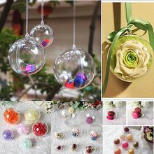 10cm Plastic Clear Christmas Decorations Hanging Ball Bauble Candy Ornament Xmas Tree Outdoor Decor Clear Christmas