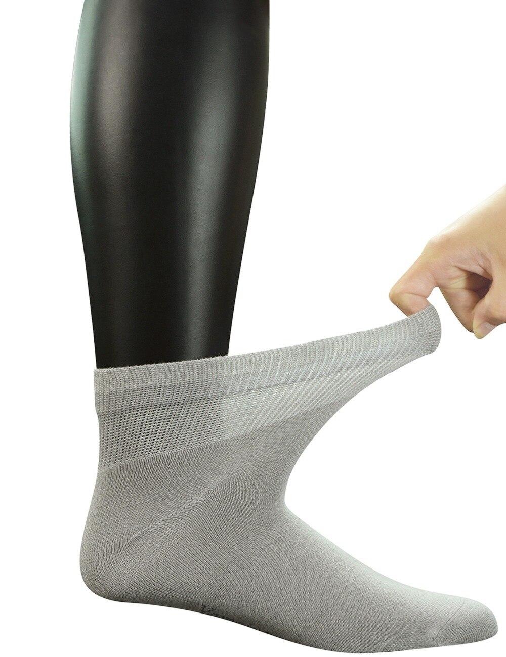 Ankle Diabetic Socks Solid Grey 2