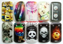 New Clear And Bright Covers For Blackberry 9900 Case Plastic Hard Back Covers On The Back 13 Variants Of Drawings Free Phone Cas