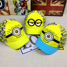 New Minions cartoon for Minions Adjustable Caps girl kids Baseball hat Cool Boy Hip-hop cosplay accessary(China)