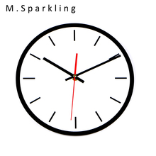 [M.Sparkling] 2017 Fashion Design DIY Wall Clock Solid White Circular Acrylic Wall Clock Electronic Wall Watch Decor HC015
