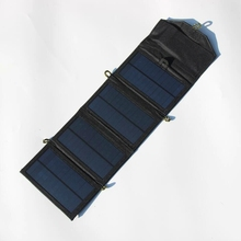 New 7W Solar Charger Foldable Monocrystalline Solar Panel Charger For iphone/Mobile Power Bank Battery Charger  High Quality