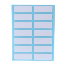 12 Sheet Self Adhesive Sticky White Label Blank Post It Stickers Note Tags Craft
