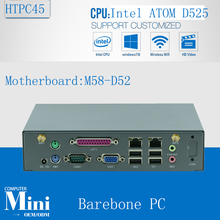 2016 New mini pc board mini server Micro Linux Server Support wireless keyboard, mouse D525 barebone(China)