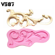 Fondant Cake Molds Roll Leaf European Relief Lace Mold Cake Border Soap Chocolate Mould For The Kitchen Baking