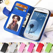 i8190 Photo Frame Flip Cover PU Leather Phone Bag Case For Samsung Galaxy S3 Mini i8190 Wallet Style Stand Design Cases Tomkas