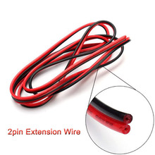 2pin 5/10/20/50m/lots 22awg 5050 3528 RGB LED Strip Wire Extend Red Black Cable Cord Connector Cable Electrical Wire CB-22AWG-RB
