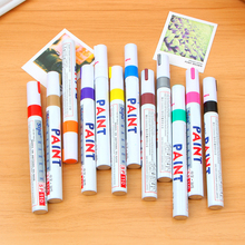 1 pcs 12 Colors Waterproof Car Tyre Tire Tread Rubber Metal Permanent Paint Marker Pen free shipping