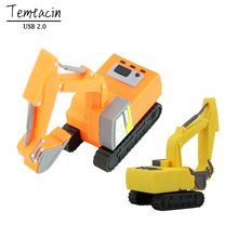 New Truck Model USB Flash Drive Pen Drive Excavator Special Car PenDrive 8GB 16GB 32GB Memory Stick Real Capacity Free Shipping
