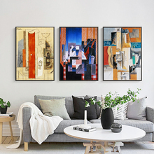 Picasso Color Abstract Oil Painting Modern Simple Decorative A4 Art Print Poster Canvas Painting Mural Living Room Home Decor