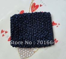 BARGAIN for BULK  4.5inches width Navy Elastic Crochet headbands for making waffle hats