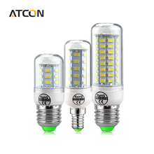 1X Long Lifespan No Flicker LED lamp 5730 SMD 220V 240V E27 E14 24 -89 LEDs Bulb Smart IC Diver Replace 7W-35W Fluorescent Light