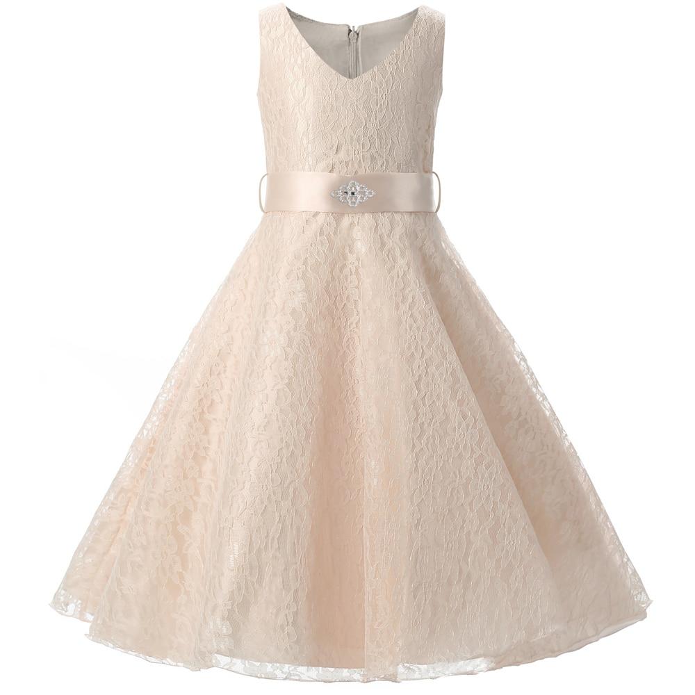 Teenage Girl Dress For Kids Wedding Ceremonies Party Wear Children Bridesmaid Dress Princess Lace Girls Formal Communion Clothes<br><br>Aliexpress