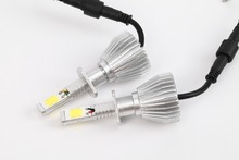 Car Headlight 2piece/1set 60W 6000LM H7 6000K LED Headlight 12v Car Upgrade Conversion Bulbs kit White  LED car headlights