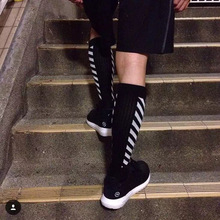 Soccer Football Soccer USA Fashion Street Sexy Fishnet socks Long Striped tie Hip Hop Socks Justin Skateboard new arrival