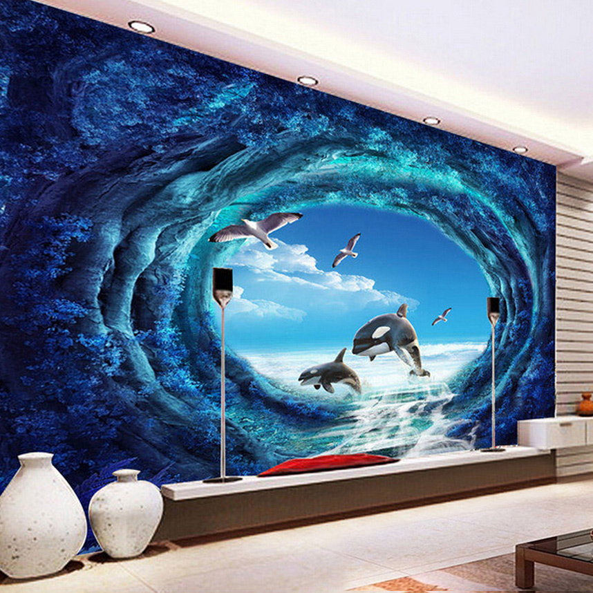 Custom Wallpaper Murals 3D Stereoscopic Creative Space Large Mural Wall Painting Home Decor For Living Room Wallpaper Modern<br><br>Aliexpress