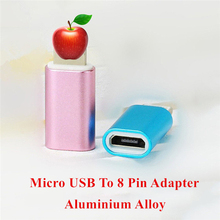 Micro USB Data Sync Fast Charging Cable Andriod Female to 8 pin male usb Adapter Connector For iPhone 5 5s 6 6s 7 plus iPad 4
