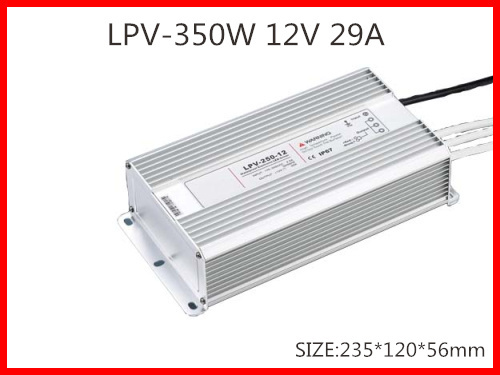 350W 12V 29A LED constant voltage waterproof switching power supply IP67 for led drive LPV-350-12<br>