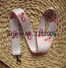 New  10 Pcs  Ribbon Awareness White  Cello Phone  Key Chains  Neck Strap Keys  Lanyards Free Shipping LM063