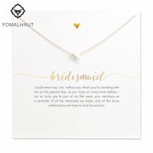 FOMALHAUT bridesmaid small imitation pearl Pendant Necklaces Clavicle Chains necklace Fashion Women Jewelry(China)