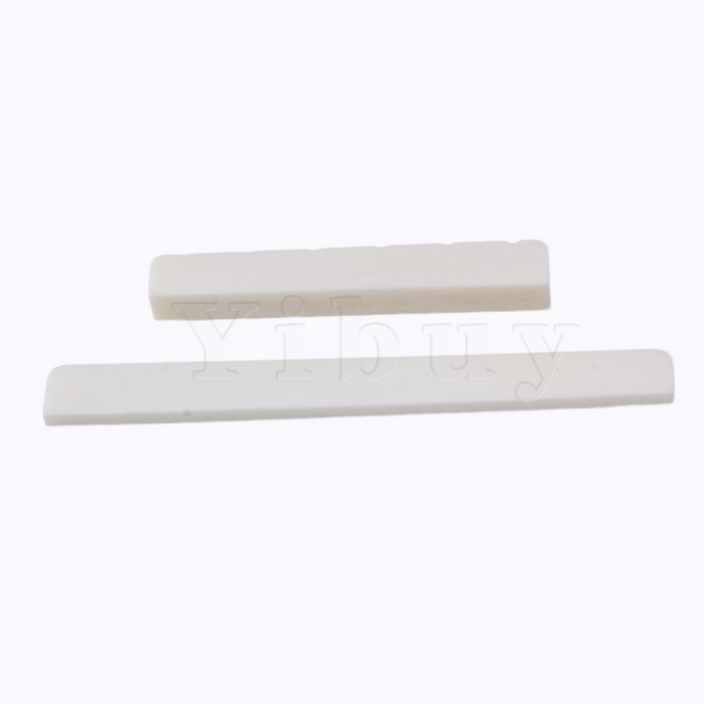 Yibuy 20 x Oxen Bone 52x6x9mm Nut 80x3x9mm Saddle for 6-String Classical Guitar<br>