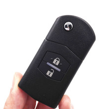 HKCYSEA 2 Buttons 315/433MHZ Flip Folding Remote Key without Chip for Mazda 3 6 M3 M6 with Logo(China)