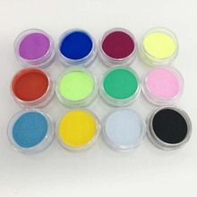 12Pcs Girl Nail Art Tips Nail Glitter Mix Colors Glitter Powder for Acrylic UV Gel Decoration DIY Manicure Beauty Tools FM(China)