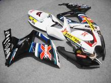 Motorcycle Fairing kit for SUZUKI GSXR600 750 K6 06 07 GSXR 600 GSXR 750 2006 2007 ABS white black Fairings set+7gifts SC37