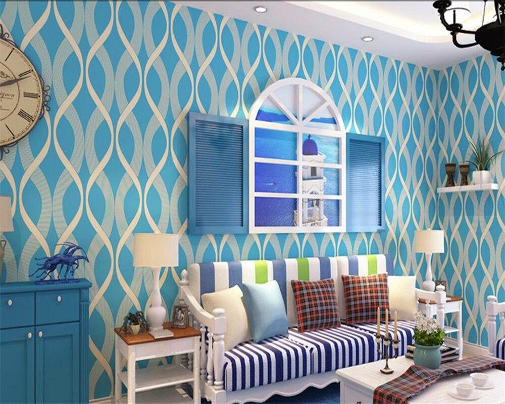 Beibehang wallpaper for walls 3 d curve stripes red blue yellow wallpaper for living room Desktop Hotel Design 3d wallpaper<br>